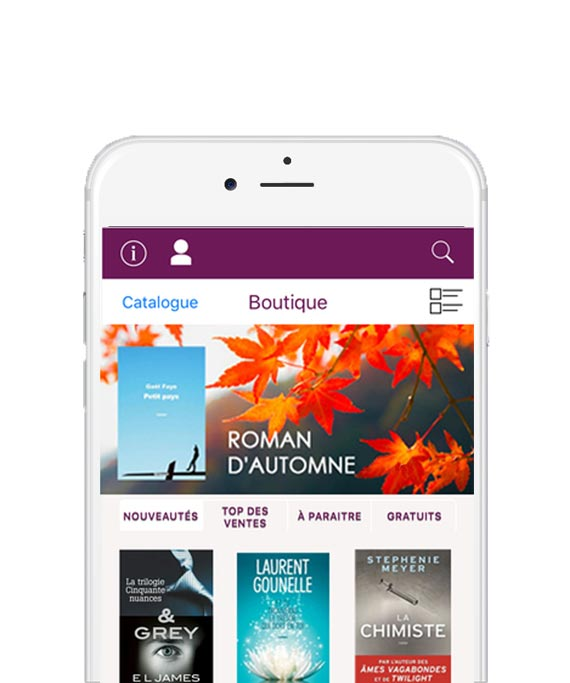 Application de lecture ebook android ios